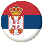 Serbia Country Flag 58mm Button Badge